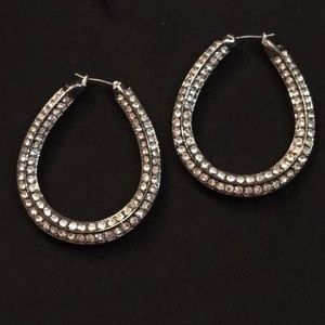 IMAN Cz hoop earrings